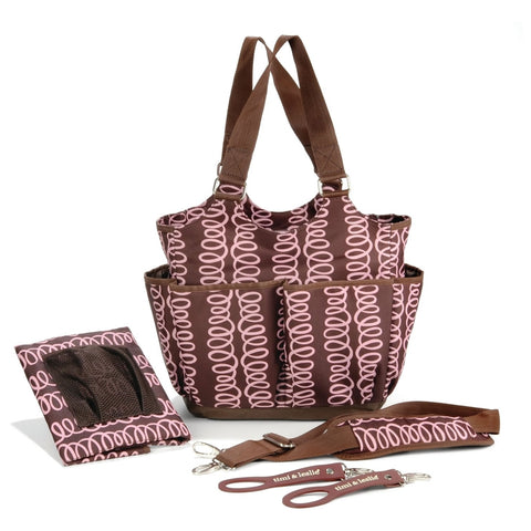 Timi & Leslie Tag - a - Long Diaper Bag - Zoey Brown
