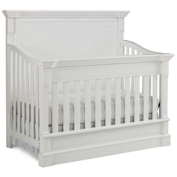 Dolce Babi Roma Full Panel 4 in 1 Convertible Crib in Snow White