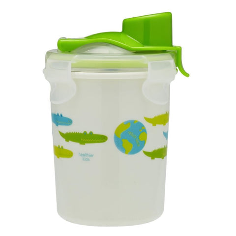 Innobaby Keepin' Fresh Stainless Cup, 8oz, Alligator Print - Green