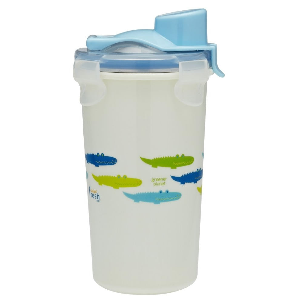 Innobaby Keepin' Fresh Stainless Cup, 12oz, Alligator Print - Blue