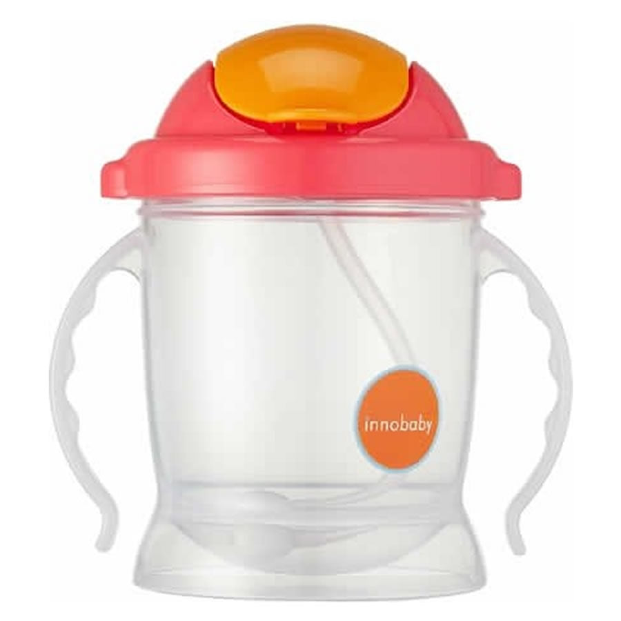 Innobaby Sippin' Smart EZ Flow Straw Sippy Cup - Pink
