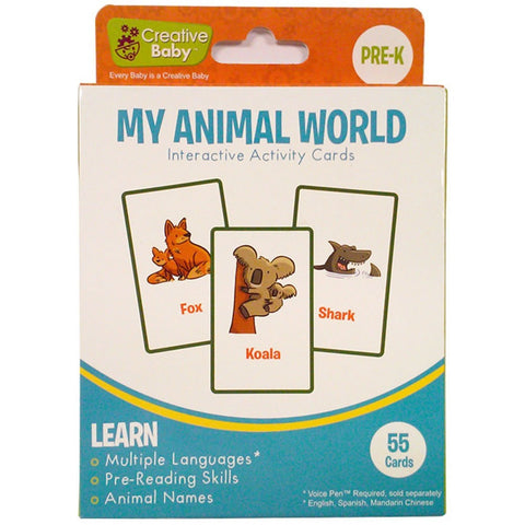 Creative Baby Interactive Activity Cards - My Animal World