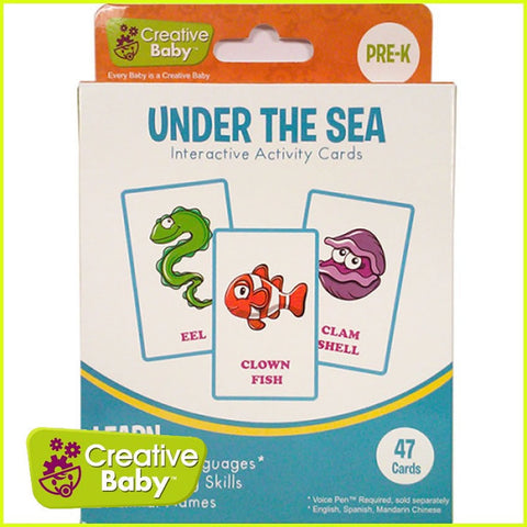 Creative Baby Interactive Activity Cards - Under the Sea