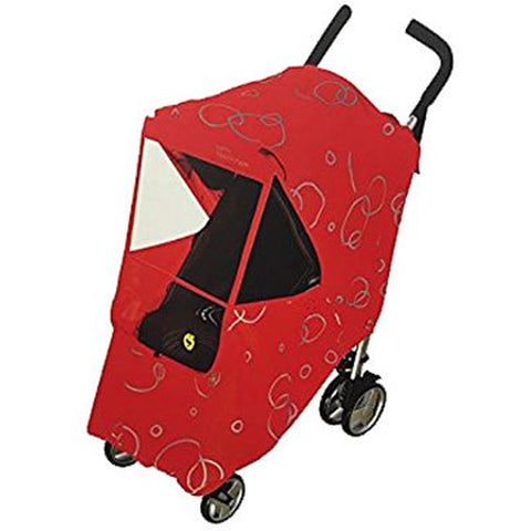 Hippo Collection Universal Stroller Weather Shield with Bubble - Red