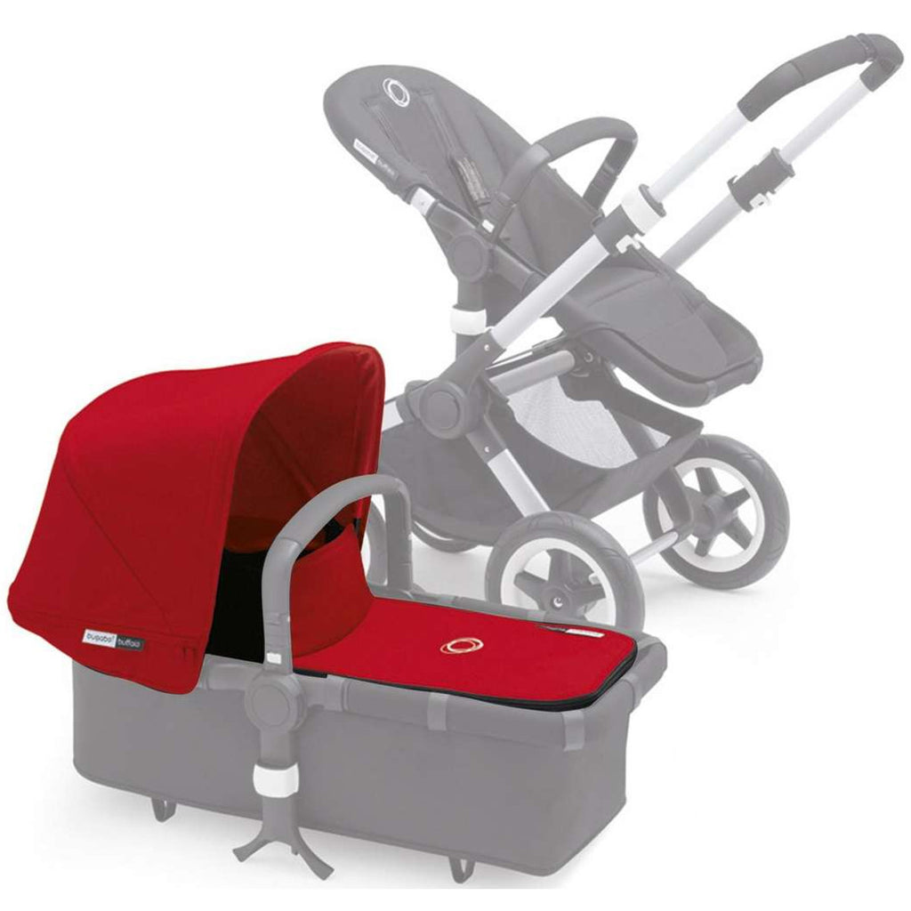 Bugaboo Buffalo Extendable Canvas Tailored Fabric Set, Red