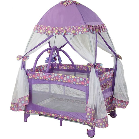 Big Oshi Playard with Mosquito Net & Carry Bag - Purple