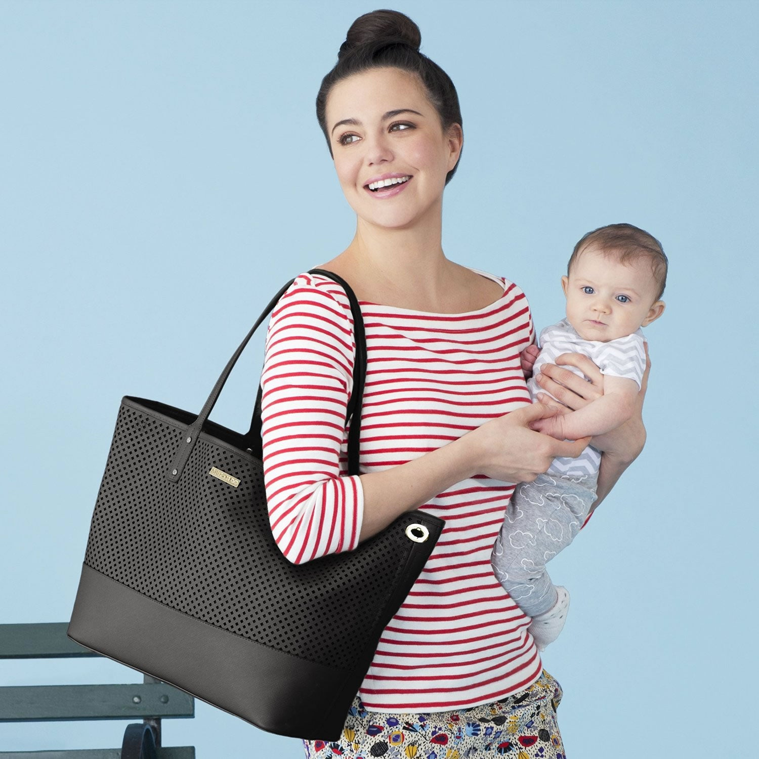 Skip Hop Duet 2 in 1 Diaper Tote, Black – NY Baby Store