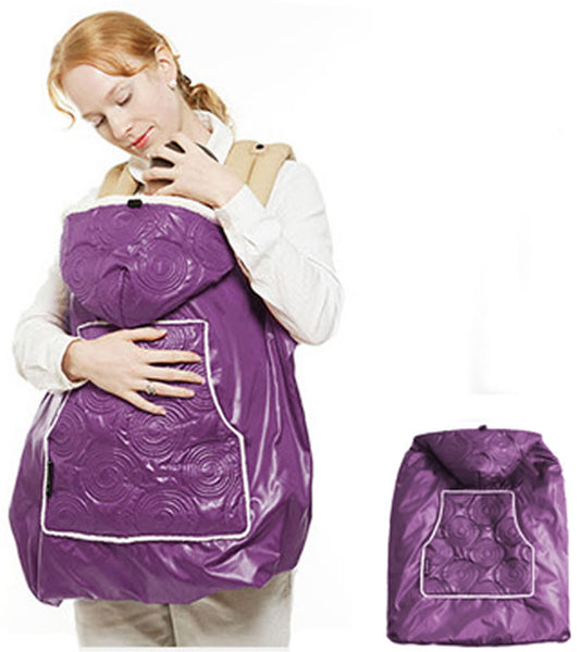 Manito Shiny Skin Infant Carrier Warmer/Bunting/Stroller Footmuff-Purple