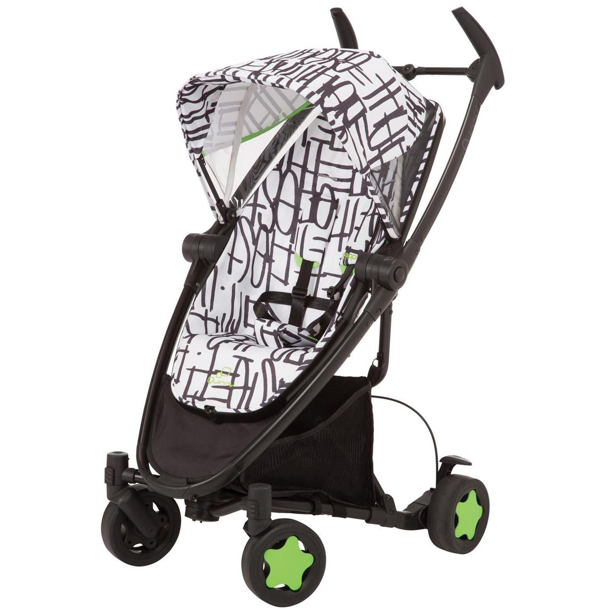 Quinny zapp xtra folding seat stroller special edition black with.