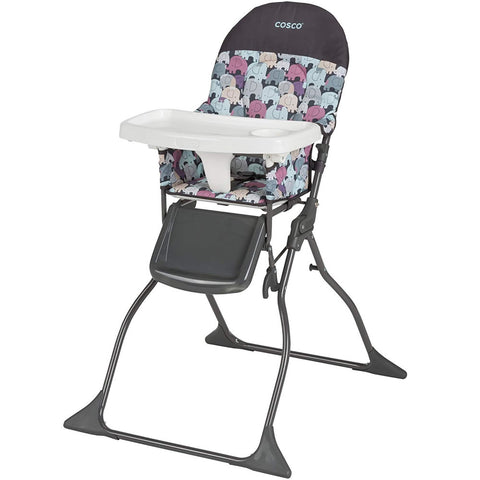 Cosco Simple Fold High Chair, Elephant Puzzle