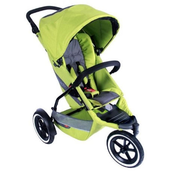 phil&teds Explorer Inline Buggy Jogging Stroller - All Apple