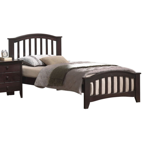 Acme Furniture San Marino Twin Beds - Dark Walnut