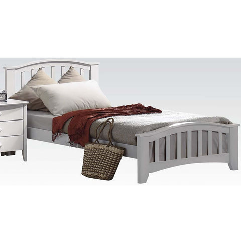 Acme Furniture San Marino Full Size Beds - White Finish
