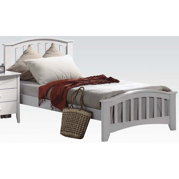 Acme Furniture San Marino Twin Beds - White Finish