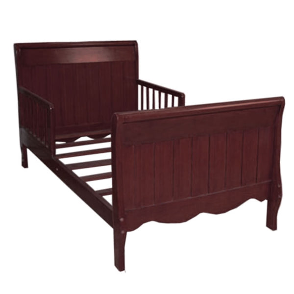 Angel Line Sleigh Toddler Bed with Solid Panel in Cherry