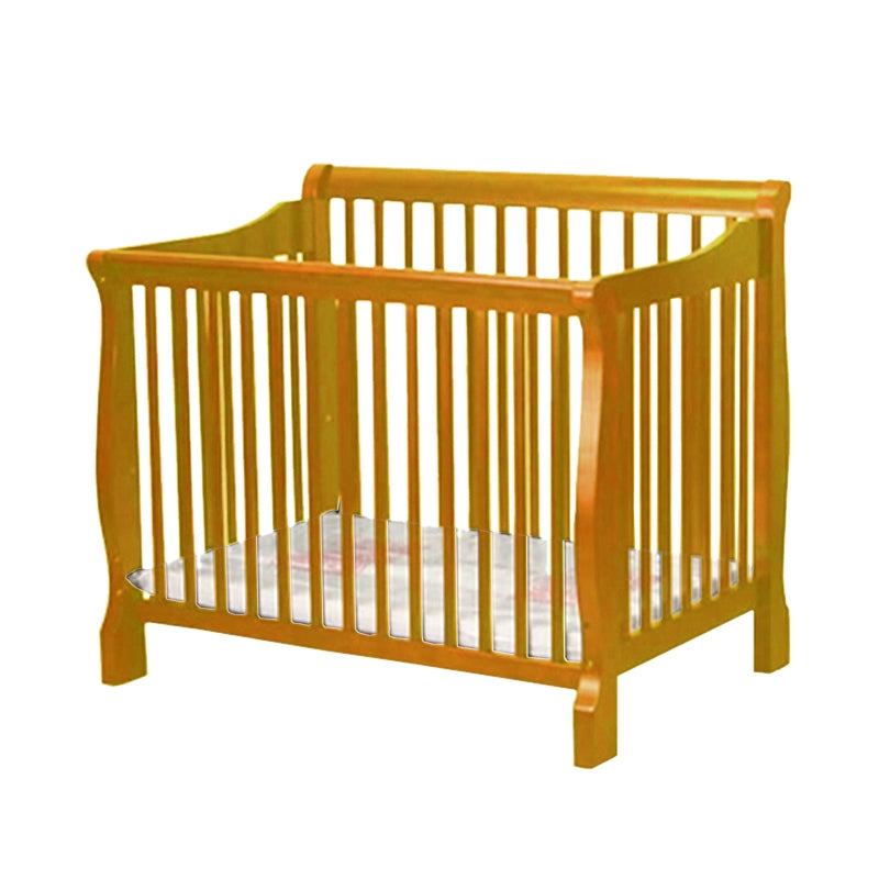 Angel Line Sleigh Mini Crib - Natural
