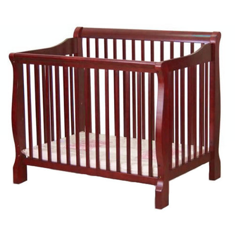Angel Line Sleigh Mini Crib - Cherry