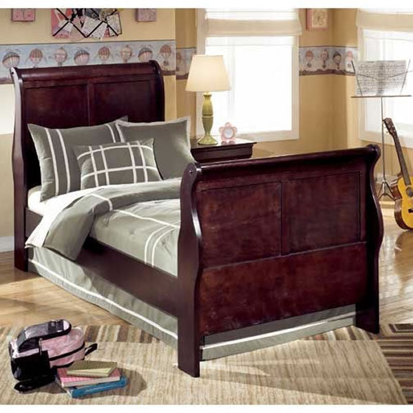 Ashley Furniture Janel Twin Sleigh Bed - Cherry