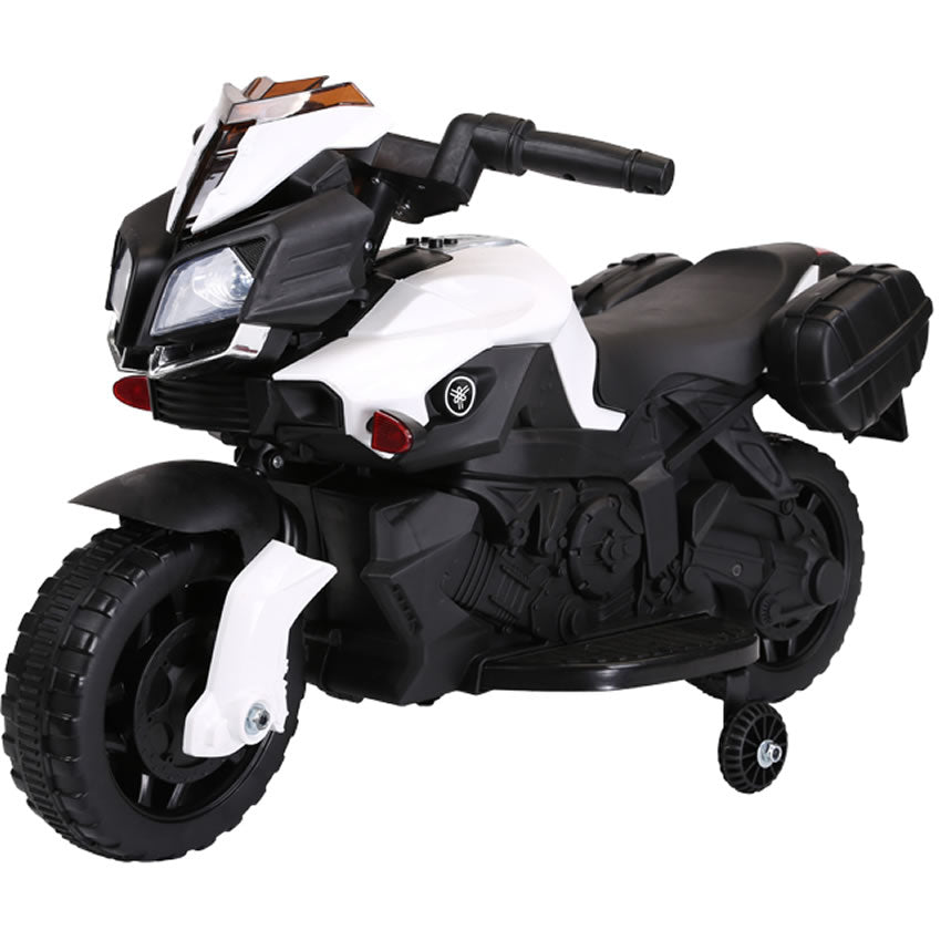 Ride On 6V Battery Powered Electric Motorcycle for Kids - White