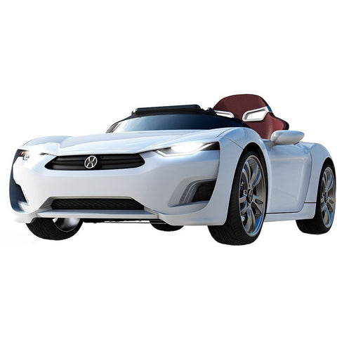 Broon F830 Ride On Car with Touch Pad and Remote Control, White