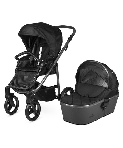 Venicci Carbo Lux Stroller with Bassinet - Black/Graphite Frame