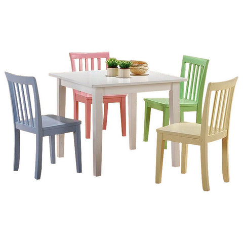Coaster Kids Furniture Kinzie 5 Piece Youth Table and Chair Set