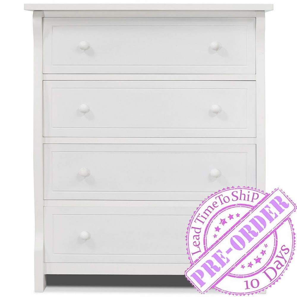 Sorelle Furniture Princeton Elite 4 Drawer Chest - White