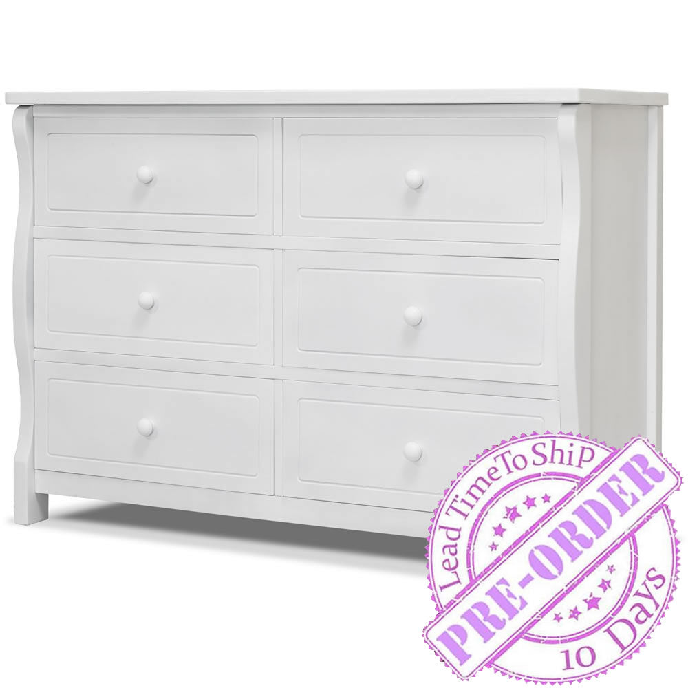Sorelle Furniture Princeton Elite Double Dresser - White