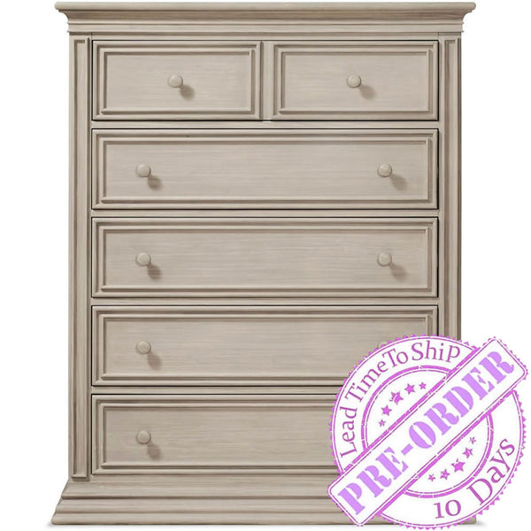 Sorelle Furniture Sedona 5 Drawer Chest - Rustic Taupe