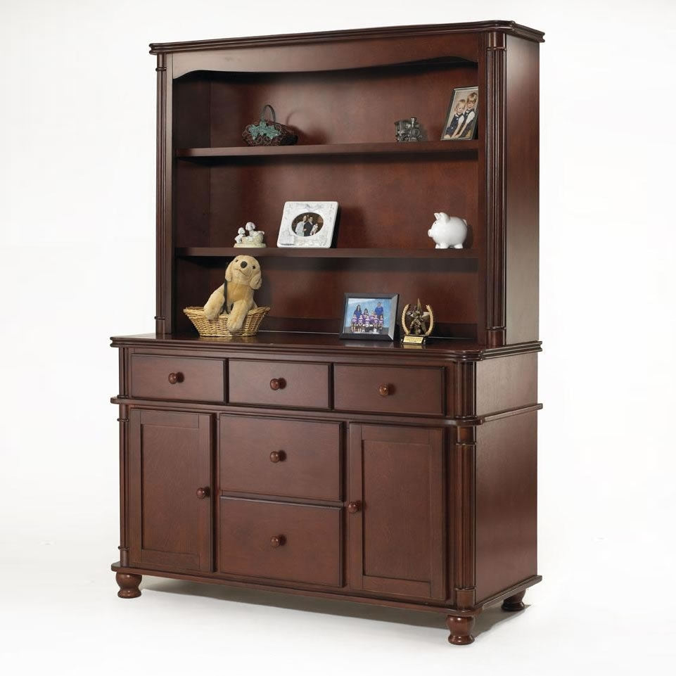 Sorelle Furniture Regal Combo Unit With Hutch - Cherry