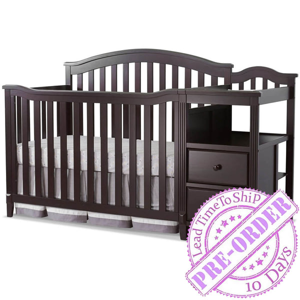Sorelle Furniture Berkley Crib and Changer - Espresso