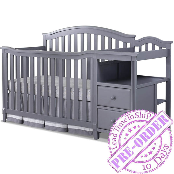 Sorelle Furniture Berkley Crib and Changer - Gray