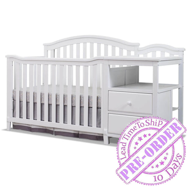 Sorelle Furniture Berkley Crib and Changer - White