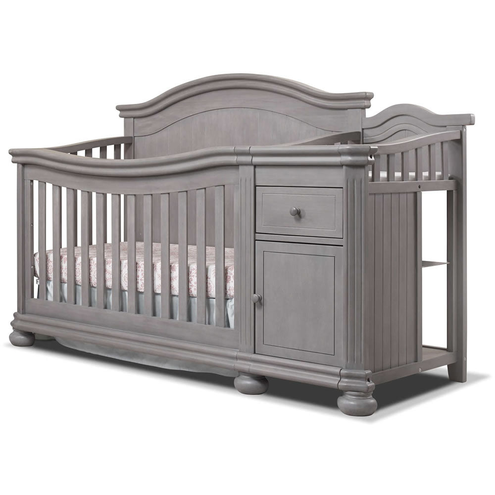 gray and white furniture. Sorelle Furniture Finley Crib \u0026 Changer In Weathered Gray Gray And White Furniture