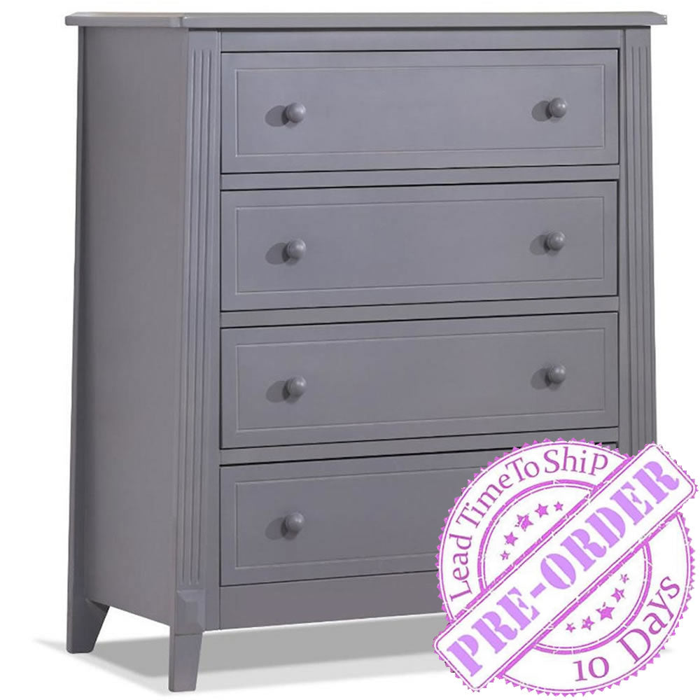 Sorelle Furniture Berkley 4 Drawer Chest - Gray