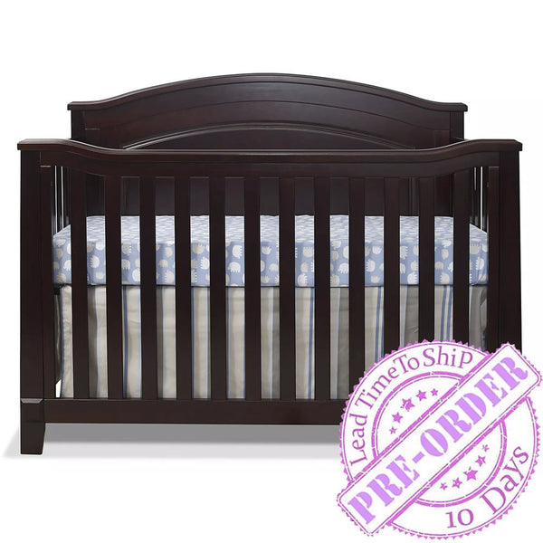 Sorelle Furniture Berkley Convertible Panel Crib in Espresso