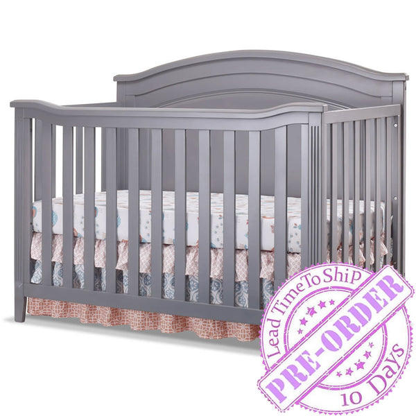 Sorelle Furniture Berkley Convertible Panel Crib in Gray