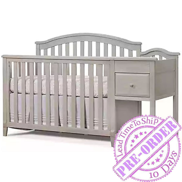 Sorelle Furniture Brittany Crib and Changer - Heritage Fog