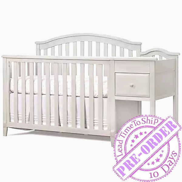 Sorelle Furniture Brittany Crib and Changer - White