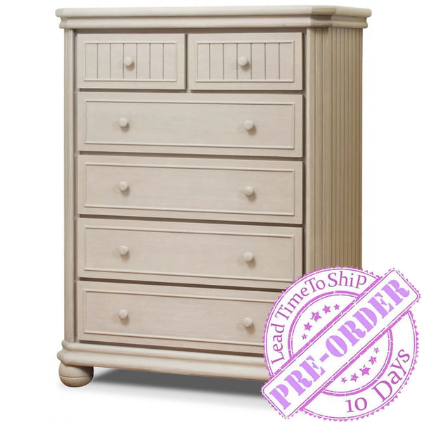 Sorelle Furniture Finley 6 Drawer Chest - Heritage Fog