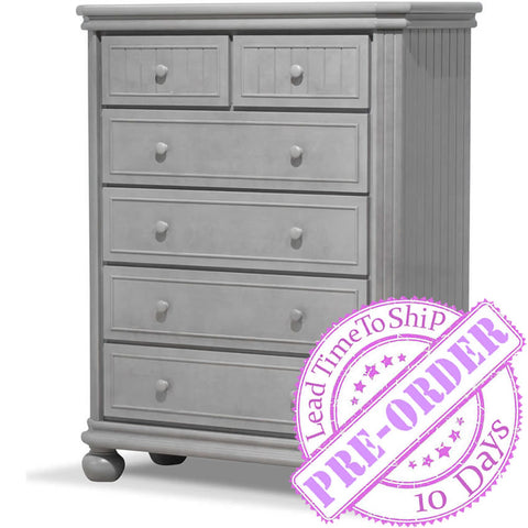 Sorelle Furniture Finley 6 Drawer Chest - Stone Gray
