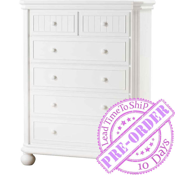Sorelle Furniture Finley 6 Drawer Chest - White