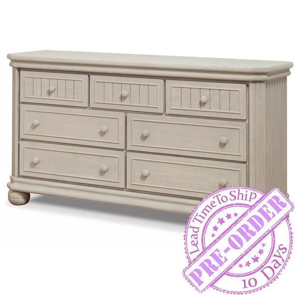 Sorelle Furniture Finley 7-Drawer Double Dresser - Heritage Fog