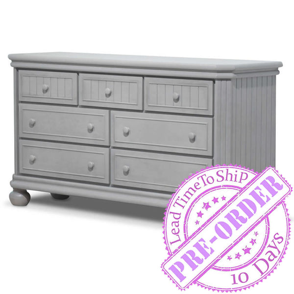 Sorelle Furniture Finley 7-Drawer Double Dresser - Stone Gray