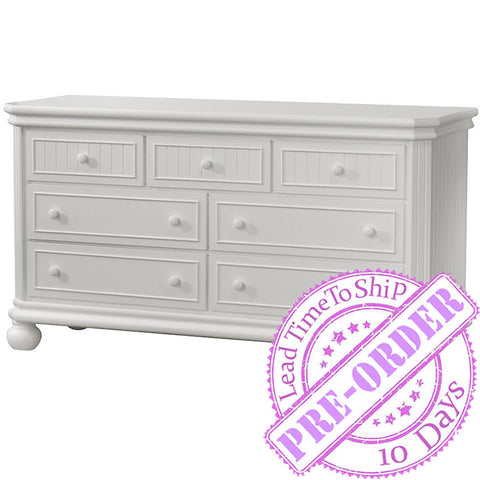Sorelle Furniture Finley 7-Drawer Double Dresser - White