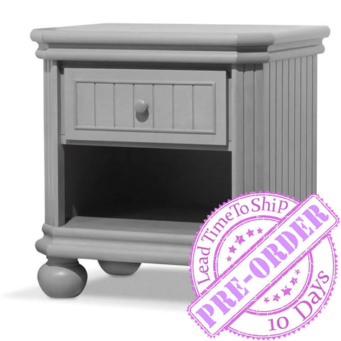 Sorelle Furniture Finley Nightstand - Stone Gray