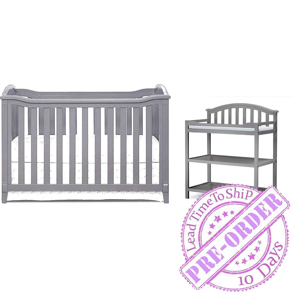 Sorelle Furniture Berkley Crib with Dressing Table  - Gray