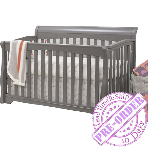 Sorelle Furniture Florence 4 in 1 Crib - Gray