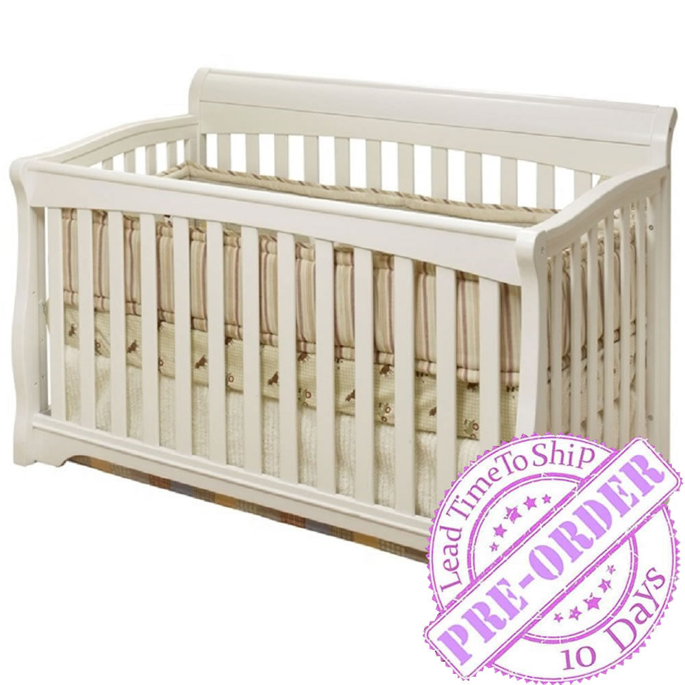 Sorelle Furniture Florence 4 in 1 Crib - White