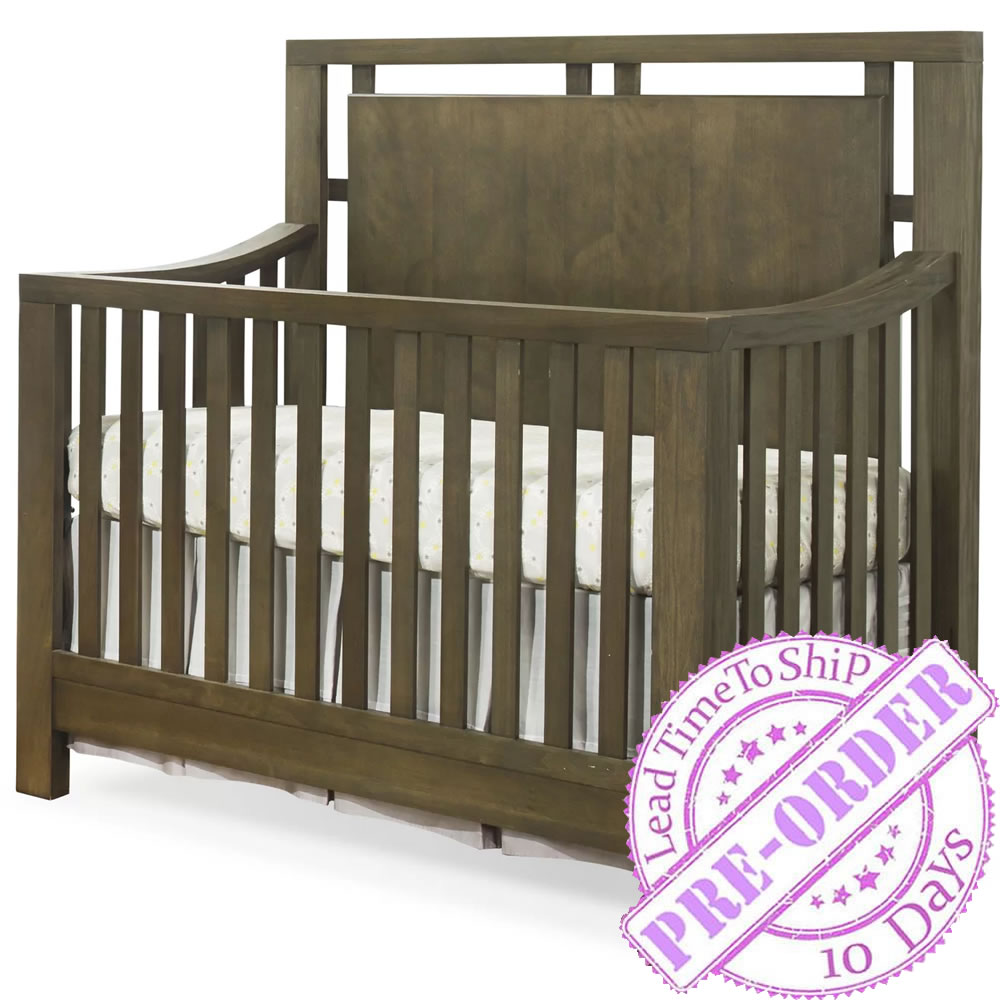 Sorelle Furniture Floating Convertible Crib - Charcoal